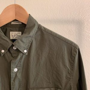 J. Crew Army Green Button Up